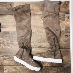 J/Slides Studded Over the Knee Boots